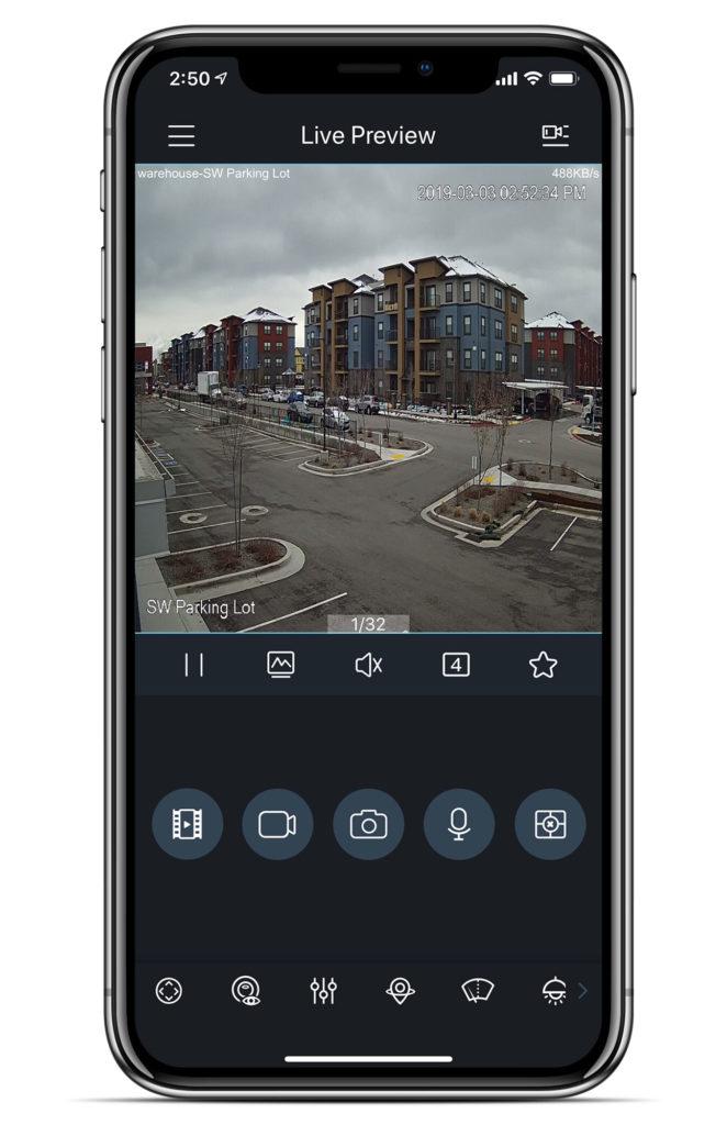Smart Phone view of video surveillance app